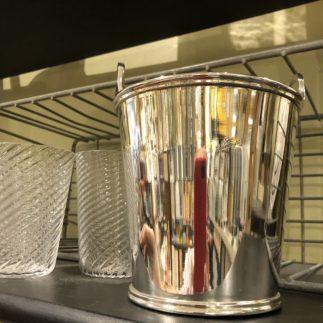 vintage silver ice bucket