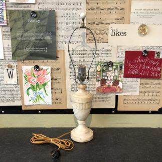 vintage alabaster lamp