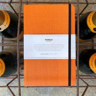 Shinola orange notebook