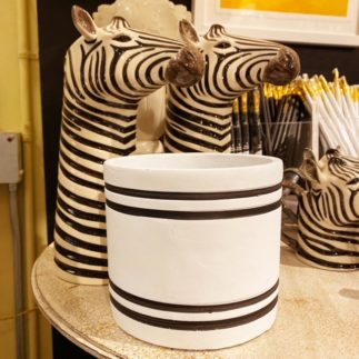 planter with stripe