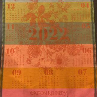 2022 calendar towel