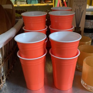 orange party cup