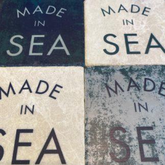 tumbled marbled coaster SEA