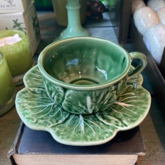 cabbage tea cup saucer