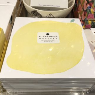 e francés lemon notepad