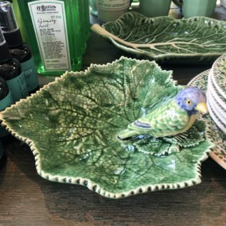 Ragwort dish with blue bird
