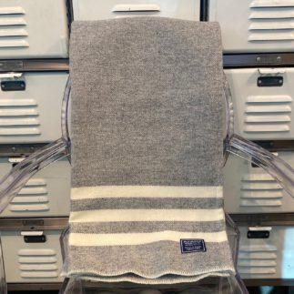 grey natural wool blanket
