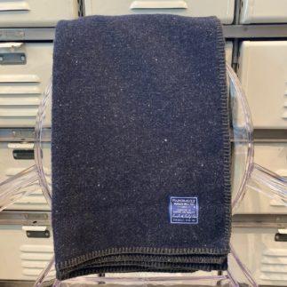 utility navy wool blanket