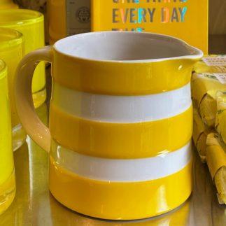 cornishware yellow stripe jug