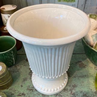 fluted beige vase