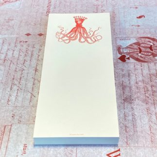 red octopus notepad