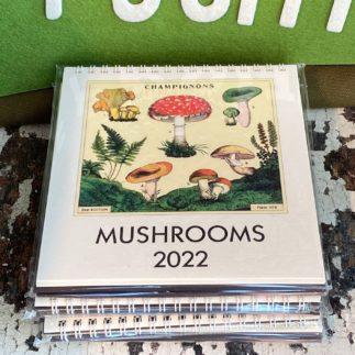 mushroom desk calendar