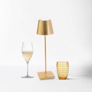 poldina gold cordless lamp