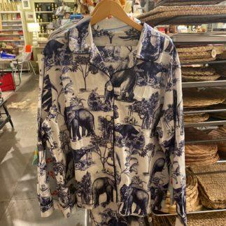 cat's pajamas blue safari pajama
