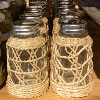 seagrass cage salt and pepper