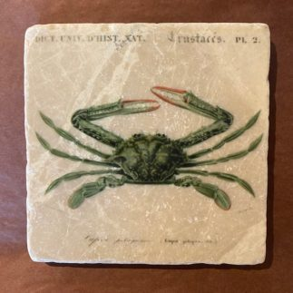 green crab marble coaster